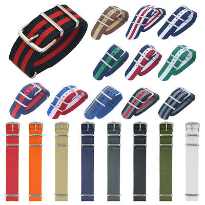 Unisex Ballistic Durable Military Nylon Wrist Watch Band Strap 18mm 20mm 22mm