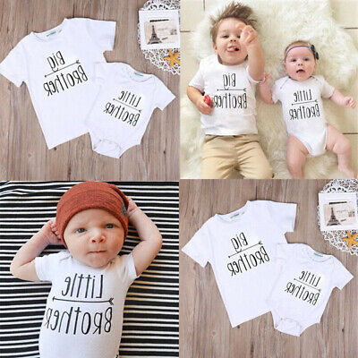 Toddler Little Big Brother Matching Clothes Kids Baby Boys Romper Bodysuit Shirt