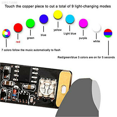 A319 Usb Car Atmosphere Lamp Usb Led Light Notebook Home Voice Control