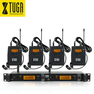 Wireless In Ear Monitor System IEM1200 2 Channel 4 Bodypack for stage Monitoring