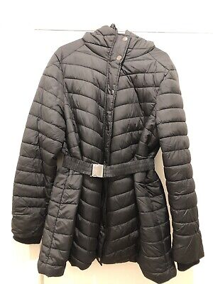 H&M Mama Maternity Black Quilted Jacket L