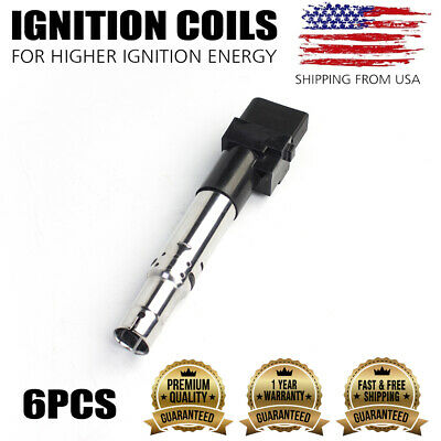 6pcs Pack Ignition Coils For 04-08 Audi VW Porsche V6 3.0L 3.2L 3.6L UF531