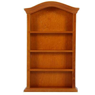 Wood 1/12 Miniature Bookcase Bookshelf Cabinet Furniture Dollhouse Decorate