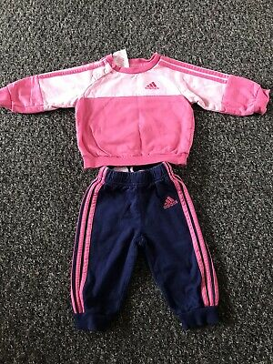 baby girls adidas tracksuit 3-6 month