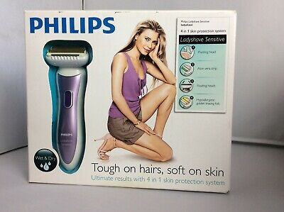 BNIB PHILIPS LADYSHAVE SENSITIVE WET DRY 4 In 1 Electric Shaver HP6368/00