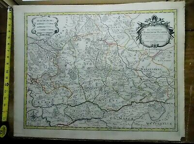 Rare Antique map Sanson Germany 17th 18thc Jaillot Munster Wolbeck Cleves Dulmen