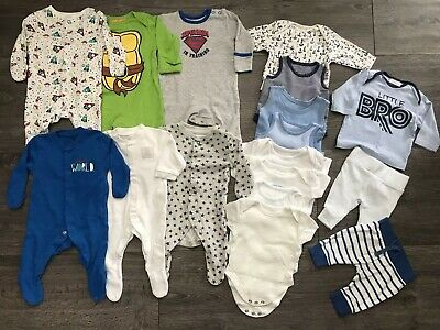 Newborn, Up To 1 Month Boys Bundle Next, Mothercare, F&F Etc