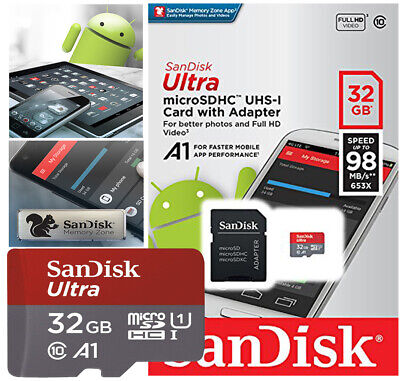 Sandisk 32GB Micro SD Card memory card UHS I Class 10 SDHC Ultra TF sd ✅ NEW