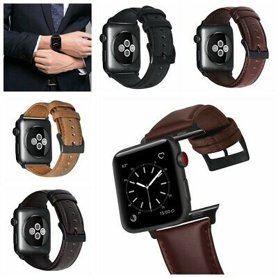Para Apple Watch 40 / 44mm Retro cuero genuino iWatch Band Hombres Casual Correa