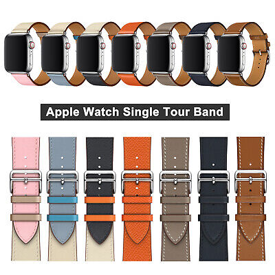 38/42/40/44mm Luxury iWatch Leather Band Strap for Apple Watch Series 5 4 3 2 1