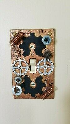 Custom Handmade Steampunk Electrical Light Switch Cover