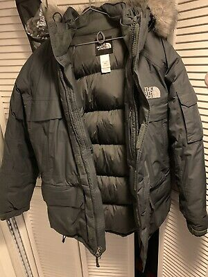 NWT Mens TNF The North Face 550-Down Parka Insulated Hooded Jacket Grey