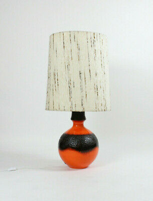 Große Fat Lava Keramik-Lampe, orange, Space Age-Design, 70er