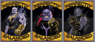 Topps Marvel Collect Card Trader Perfectly Balanced Set with Award 3 Card Set