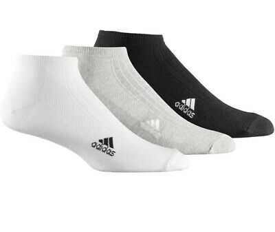 adidas Liner Ankle Sports Fitness Trainer Sock Mixed (3 Pack) - UK 8.5-11
