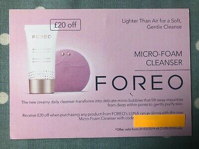 Foreo £20 OFF Voucher Code