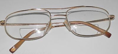 3d630bbb41e2 Laghu Men's Gold Rimmed Titanium Eye wear glasses Eyeglass frames RX Used