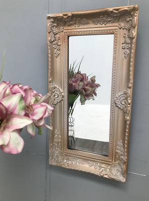 French Wall Mirror Shabby Chic Furniture Antique Vintage Style Small Ornate Room