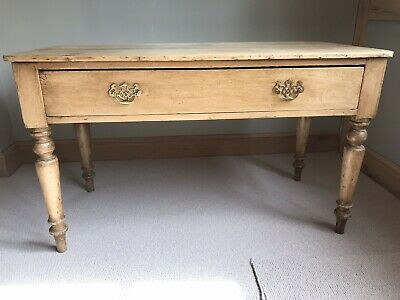 Victorian Antique Pine Console Hall Table