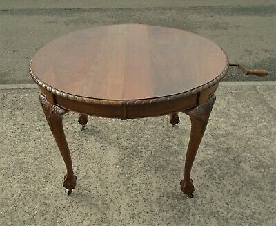 Victorian Mahogany Wind Out Extending Table   Repolished   Delivery Available