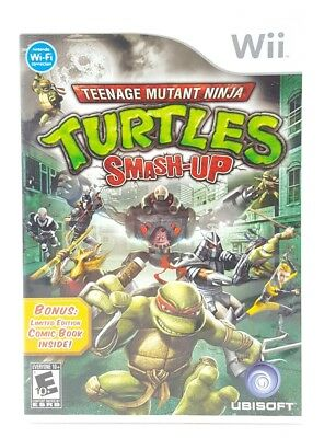 Teenage Mutant Ninja Turtles: Smash Up (Nintendo Wii, 2007) Complete - Tested