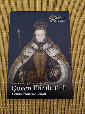 Queen Elizabeth I 450th Anniversary £5 Coin Crown 2008 Royal Mint Pack -