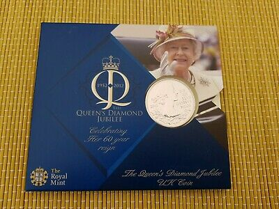 2012 Queens Diamond Jubilee £5 Five Pound Coin Pack