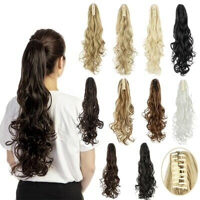 """24"""" Long Curly Synthetic Clip in Claw Ponytail Hair Hairpiece  Extension Soft NY"""