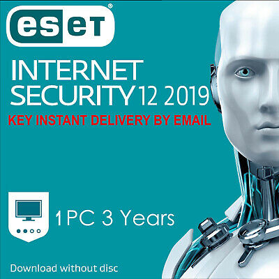 ESET NOD32 Internet Security 2019 1 PC ,3 YEAR, GLOBAL, ESD - Instant Delivery