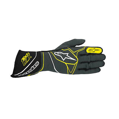 Alpinestars Tech 1-ZX MY17 Racing Gloves Grey/Black/Yellow FIA - Genuine - XL