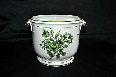 VINTAGE Mid Century Porcelain  Pot Planter Hand Painted Floral Made in Italy NEW