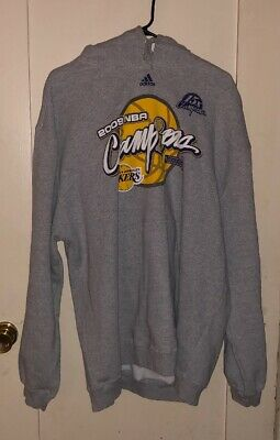Adidas 2009 LA Lakers Basketball Champions Hoodie SizeM Excellent Condition