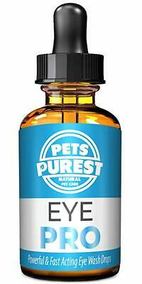 Eye Wash Drops 100% Natural Dogs Cats Pets For Itchy Irritated,Sore Red Eyes