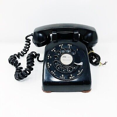 Bell System Vintage Black Rotary Telephone By Western Electric - 100% Tested