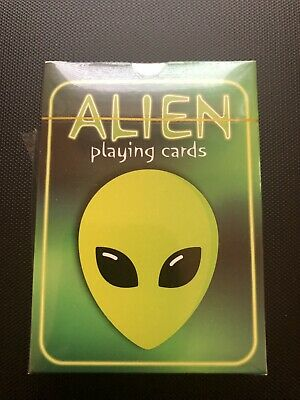 Aliens Playing Cards Poker Plastic Coated