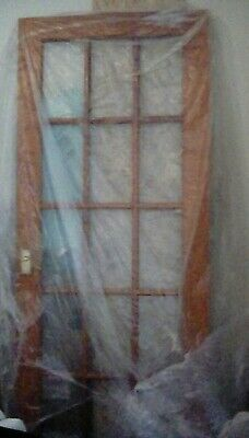 Solid Wood Pair of French DOUBLE Doors Brass Doorhandles Glass BB2 Shabby chic
