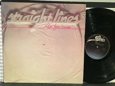 Straight Lines Run For Cover~Nm- 1981 Epic Canada Promo~Letting Go~Dogstar