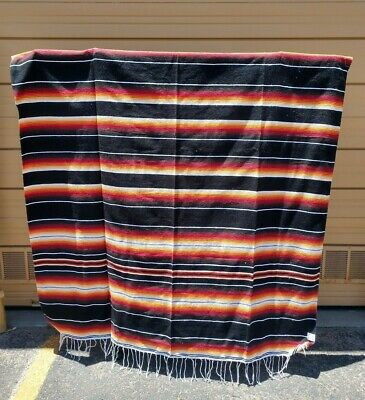SARAPE XXL,5'X7', Mexican blanket, HOT ROD,MOTORCYCLE, BLACK & RED,BROWN
