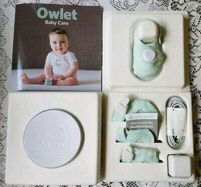 Owlet Care Smart Sock Baby Monitor Heart-rate Breathing Oxygen Base Charger NIB