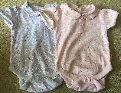 Girls' Jojo Maman Peter Pan Collar Vests 3-6 Months