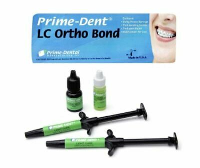 NEW Prime-Dent LC Orthodontic Resin Adhesive Ortho Bond Kit - 1 syringe 012-024