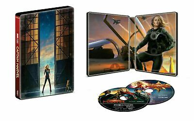 Captain Marvel 4K - Limited Edition Steelbook [4k UHD - Blu-ray] New and Sealed!