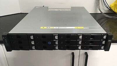 "Xyratex Dell Compellent HB-1235 12-Bay 3.5"" Disk Shelf SAS 2x Controllers 2x PSU"