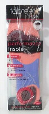 Fab Feet by Foot Petals Performance Gel Insoles TRIM TO FIT *DAMAGED PACKAGING*