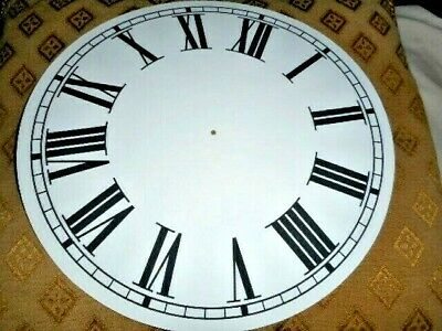 "Round Paper Clock Dial - 10"" M/T- Roman - MATT WHITE - Face / Parts/Spares"