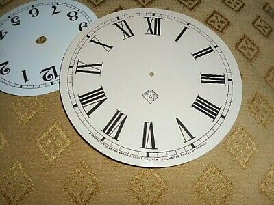 For American Clocks-Ansonia Paper Clock Dial- 125mm M/T-Aged Cream Gloss- Parts
