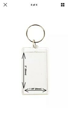 """Lot of 12 Photo Keychains Blank Clear Acrylic Insert Picture Frame 2"""" x 1 1/8"""""""