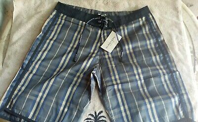 07997457b5 Burberry Men's Nova Check Swim Trunks Shorts Swimwear Size Med- SERIOUSLY  WOW
