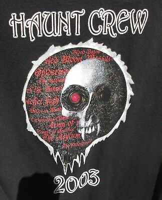 2003 Employee Knotts Scary Farm 31st Annual Halloween Haunt L Crew Shirt Black