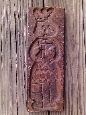 antique Springerle Speculaas Wood Cookie Mold Press Stamp Plaque Hand Carved